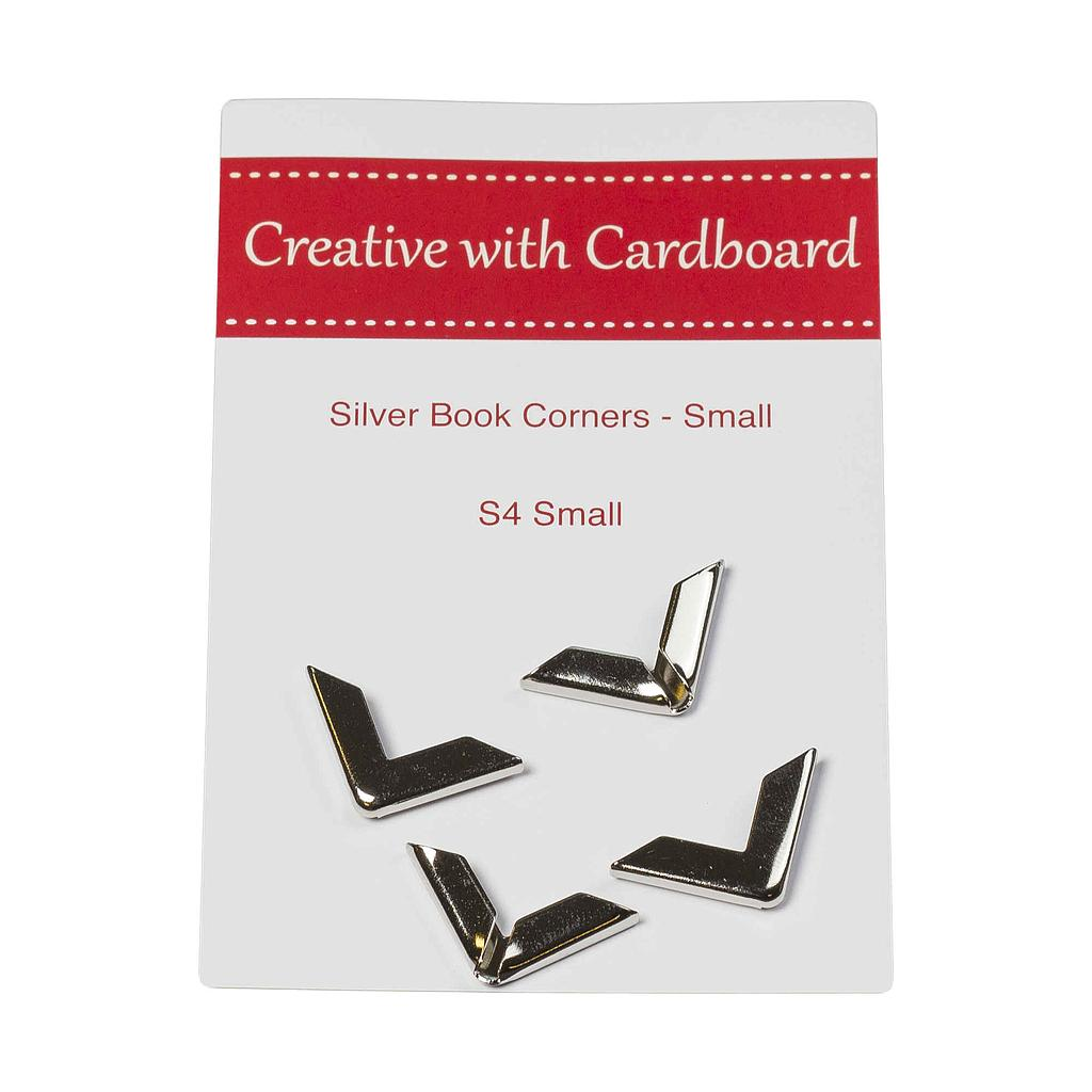 4 Silver Book Corners Small
