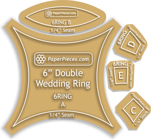"6 3/8"" Double Wedding Ring, 12 Rings"