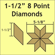 "1-1/2"" 8-Point Diamonds, 100 Pieces"