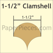 "1 1/2"" Clamshell, 135 Pieces"