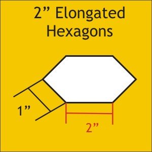 "2"" Elongated Hexagons, 75 Pieces"