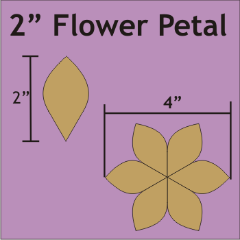 "2"" Flower Petal, 80 Pieces"