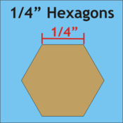 "1/4"" Hexagon, 200 Pieces"