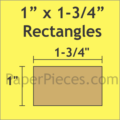 "1"" x 1 3/4"" Rectangle, 90 Pieces"