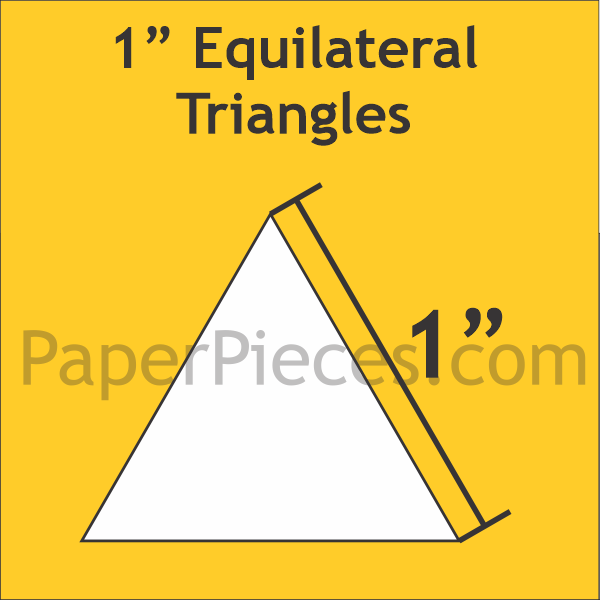 "1"" Equilateral Triangle, 100 Pieces"