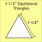 "1,5"" Equilateral Triangle, 75 Pieces"